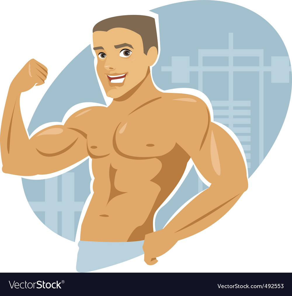 Muscle man vector