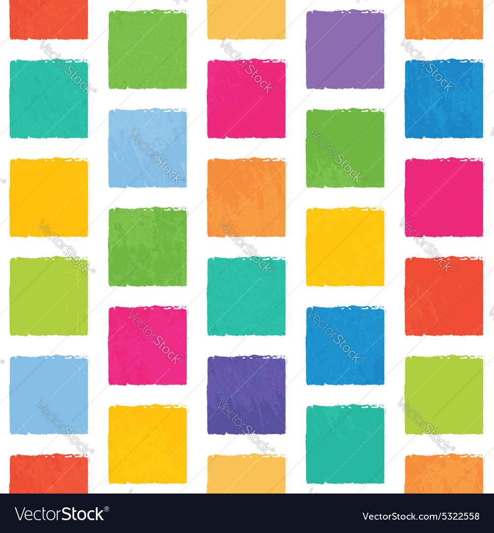 Seamless pattern with colorful squares vector