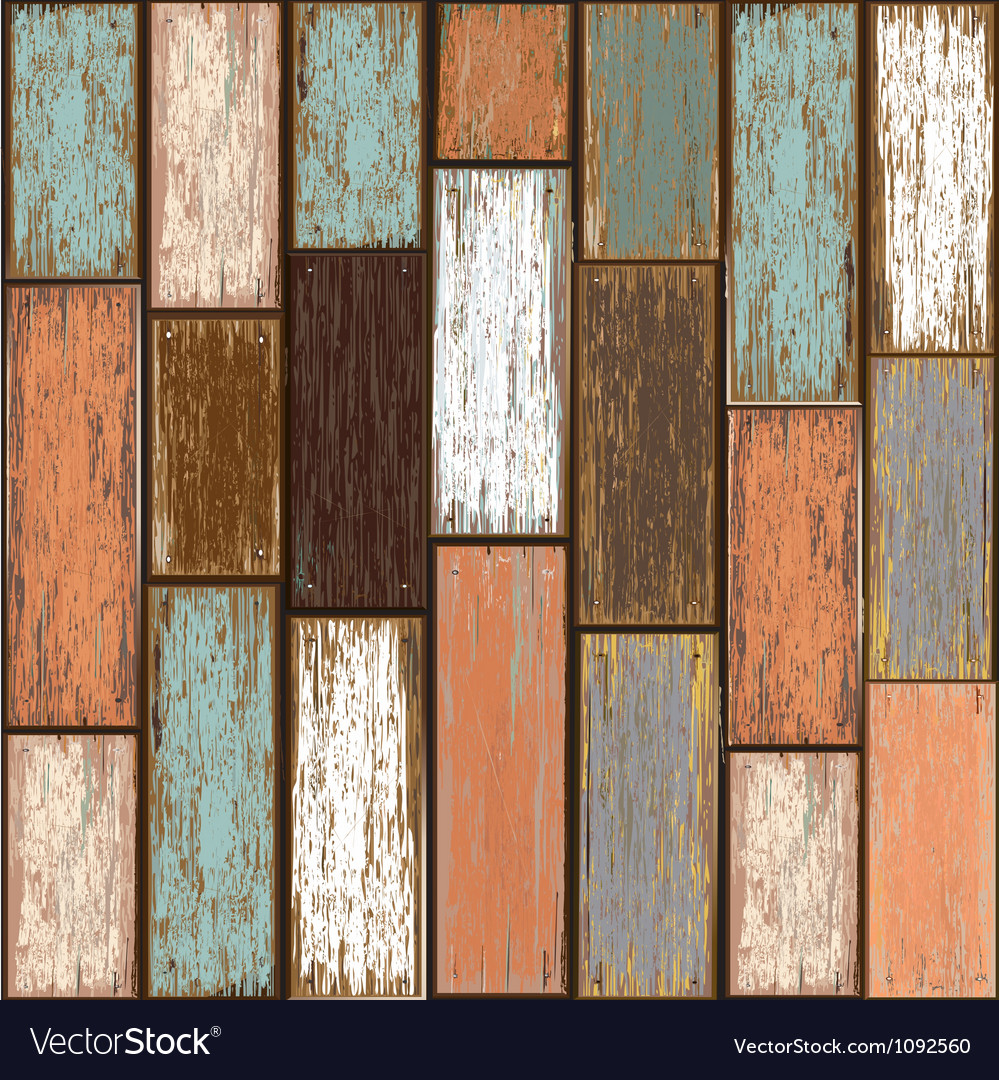 Old paint wood texture seamless background vector