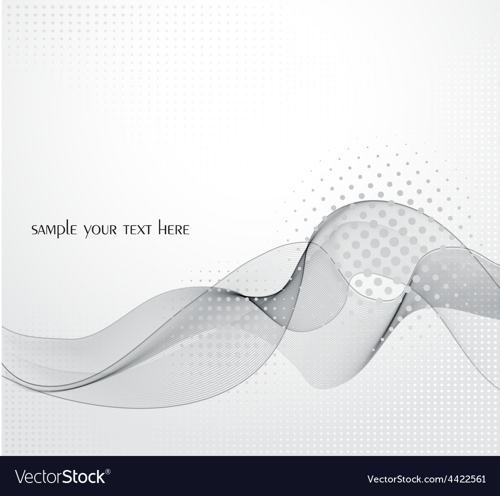 Abstract gray wave background vector