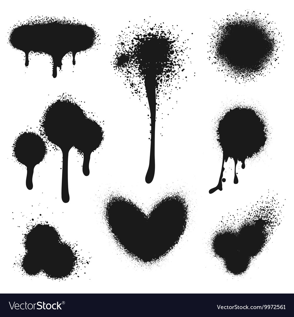 Spray paint set vector