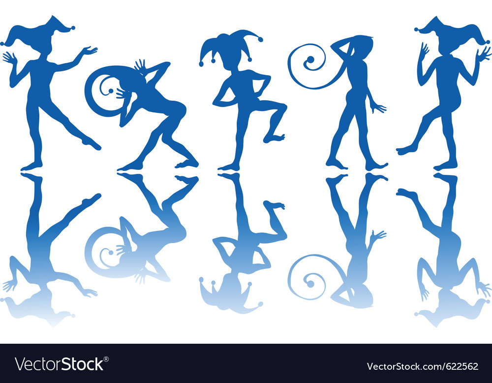 Dancing harlequins vector