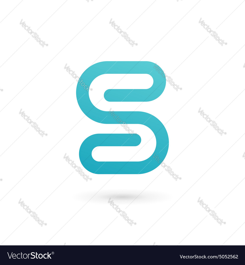 Letter s number 5 clip logo icon design template vector