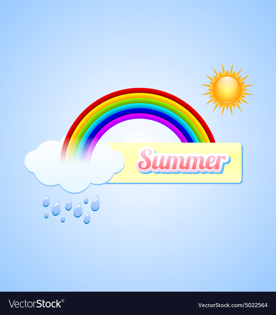 Summer button vector