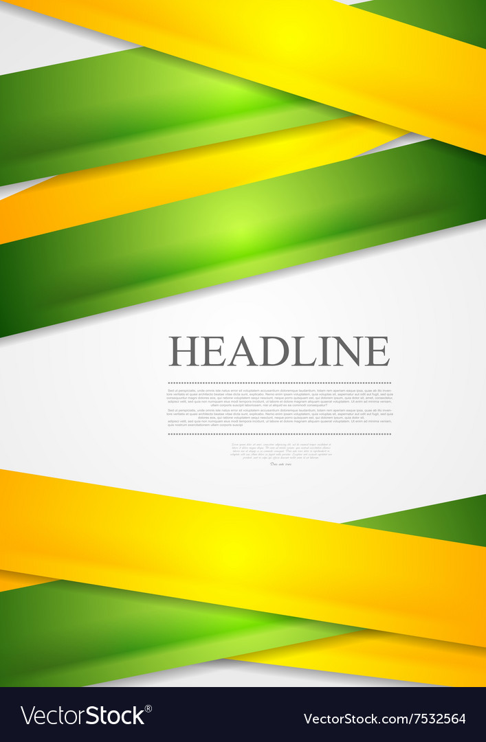 Yellow and green stripes abstract vector