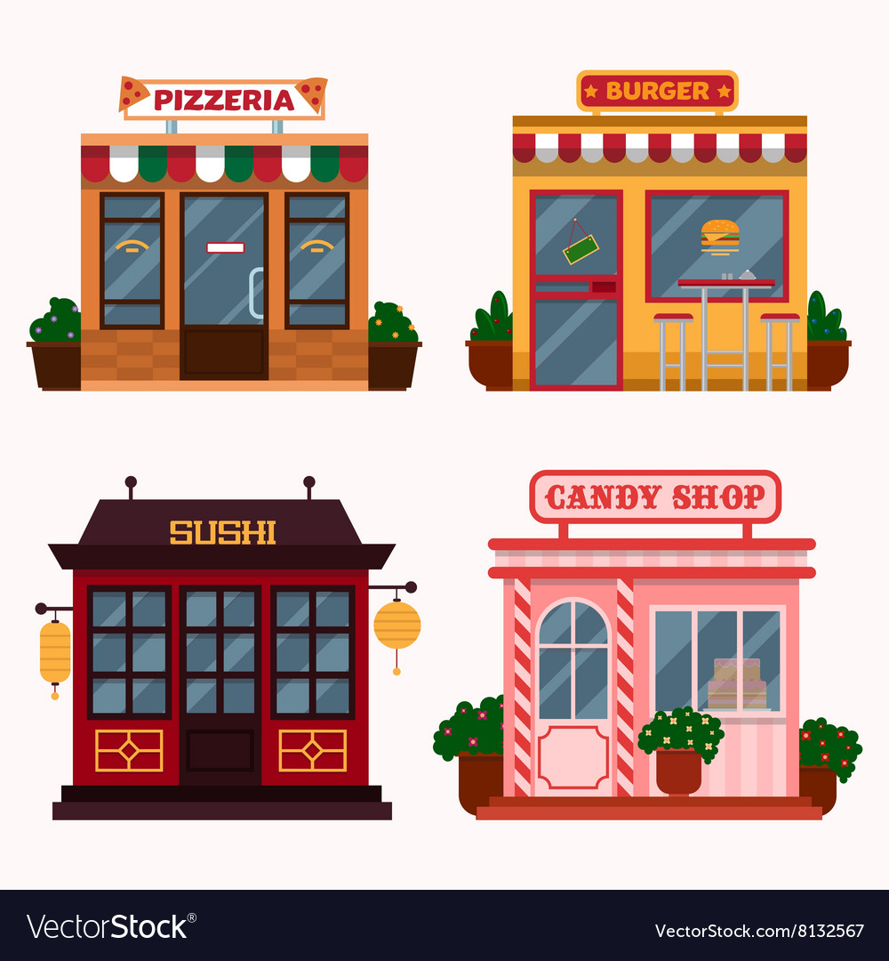 Buildings that are vector