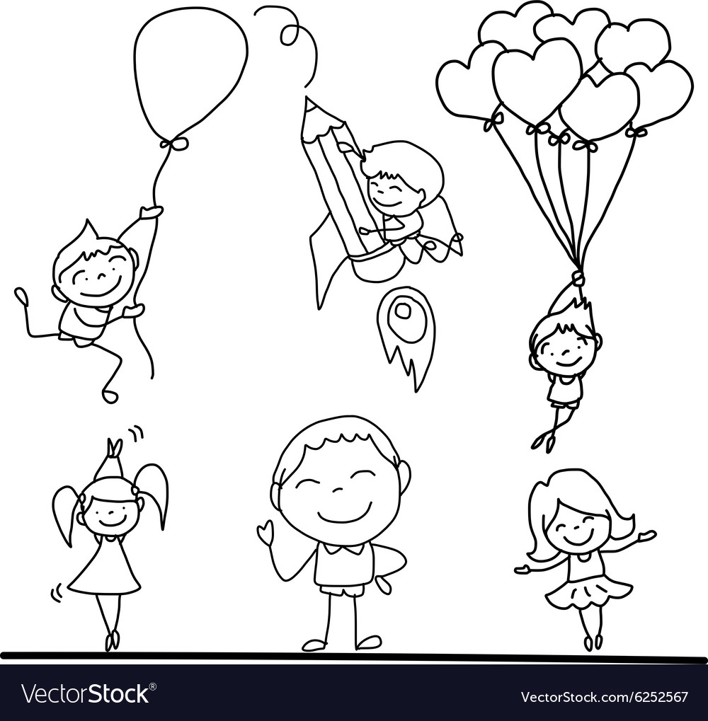 Cartoon kidsplay vector