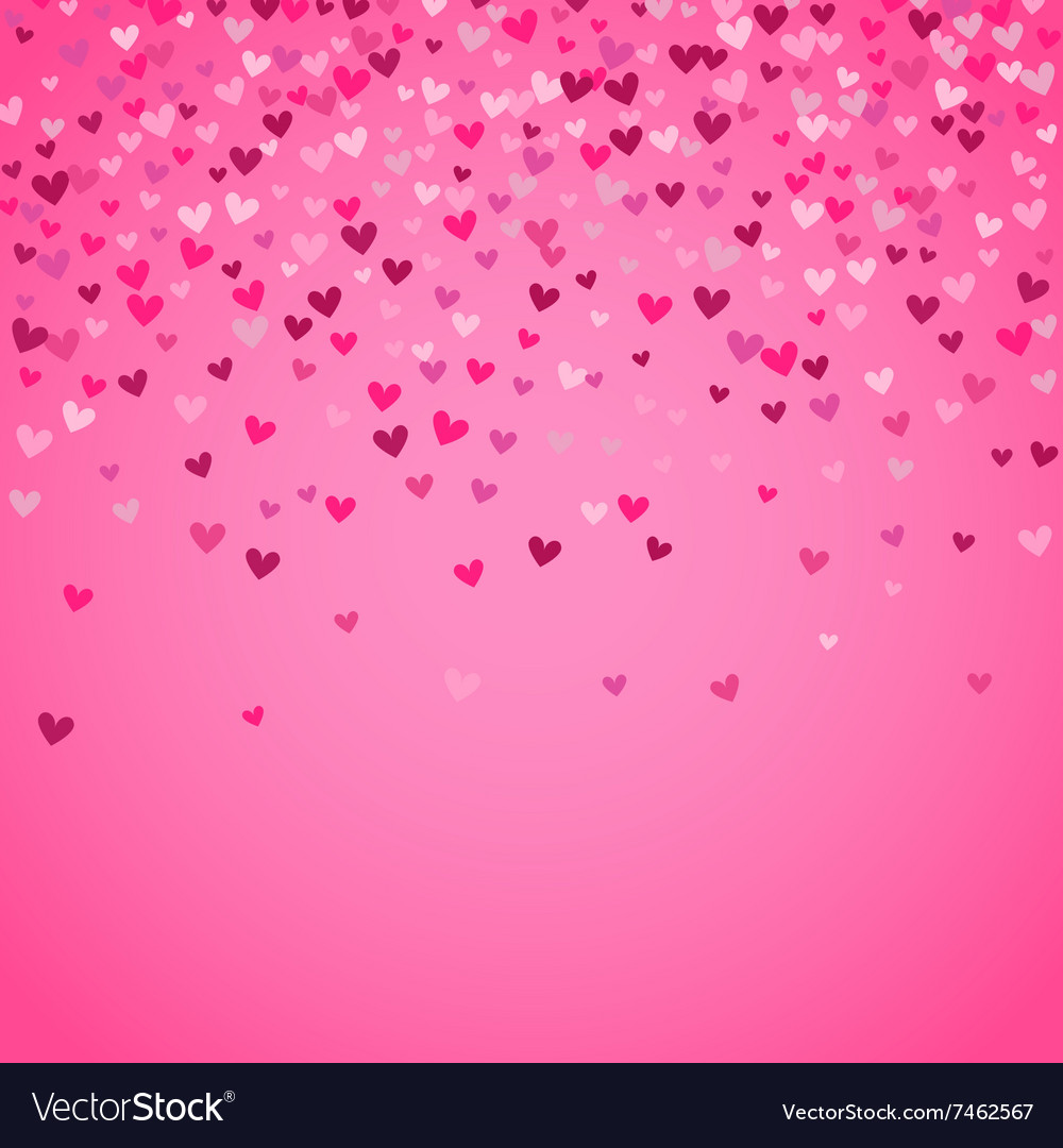 Romantic pink heart background vector
