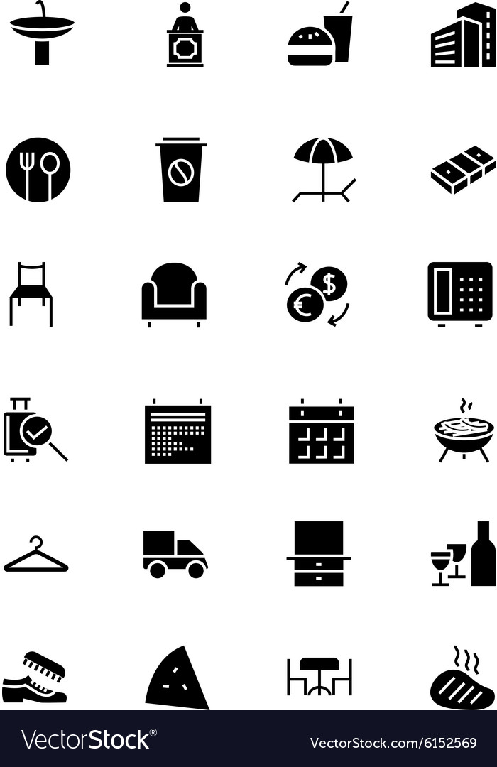 Hotel and restaurant icons 8 vector
