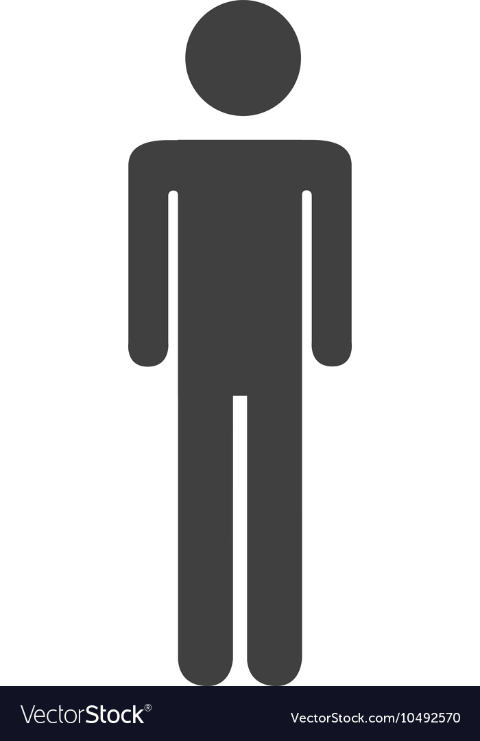 Silhouette person standing design vector