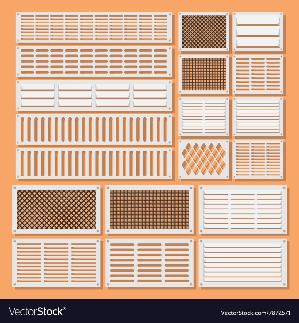 Horizontal ventilation shutters vector