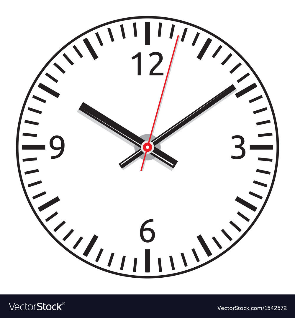 Clock face  easy change time vector