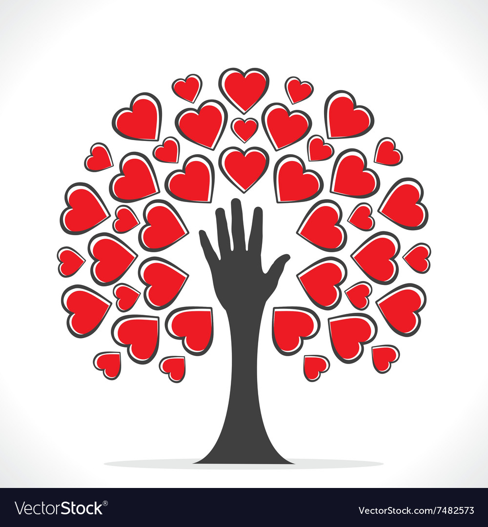 Creative valentines tree design or share your love vector