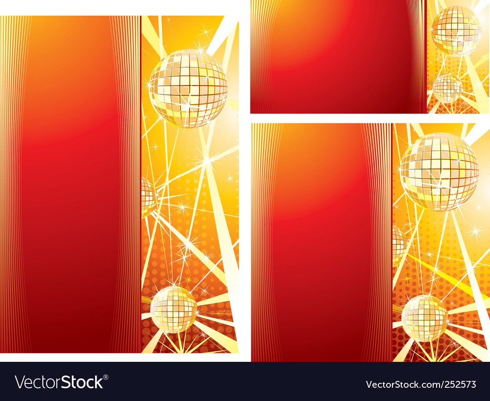 Disco templates vector