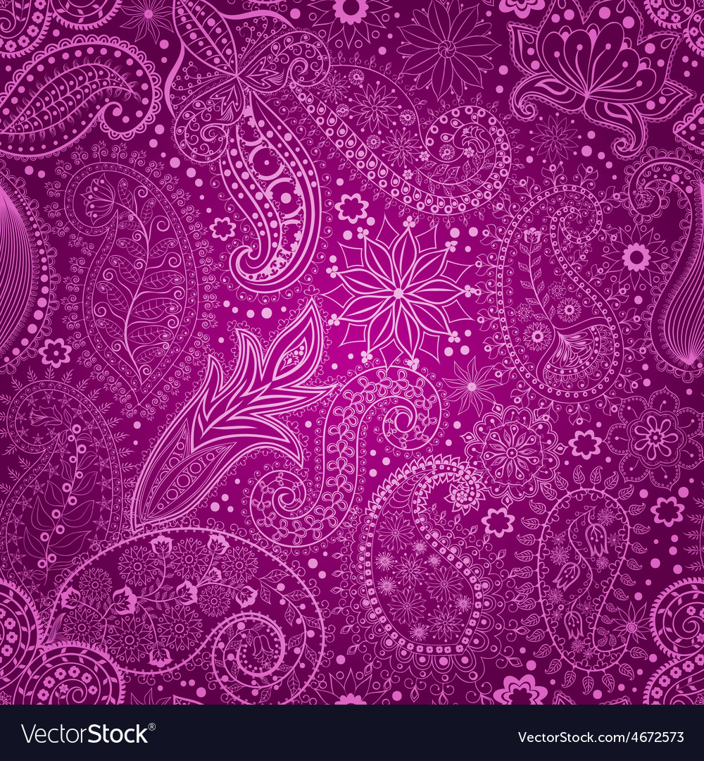 Vintage floral motif ethnic seamless background vector