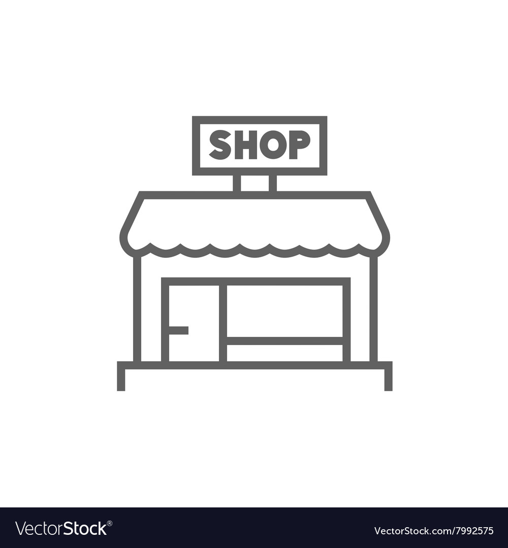 Shop store line icon vector