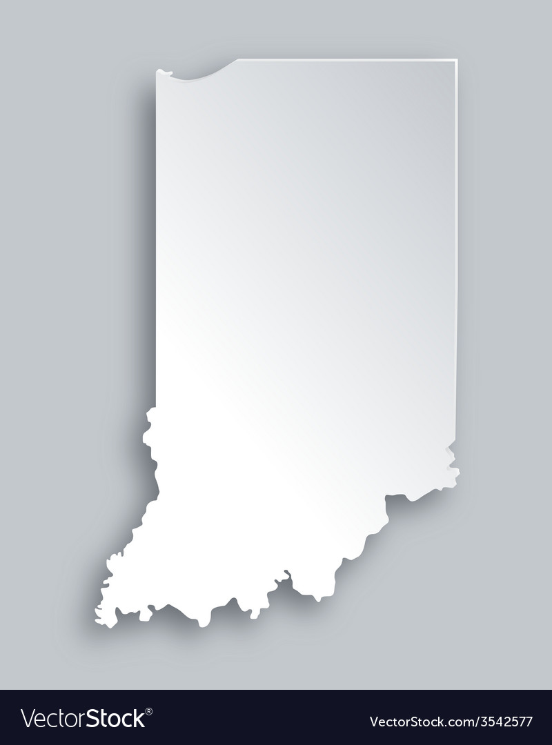 Map of indiana vector
