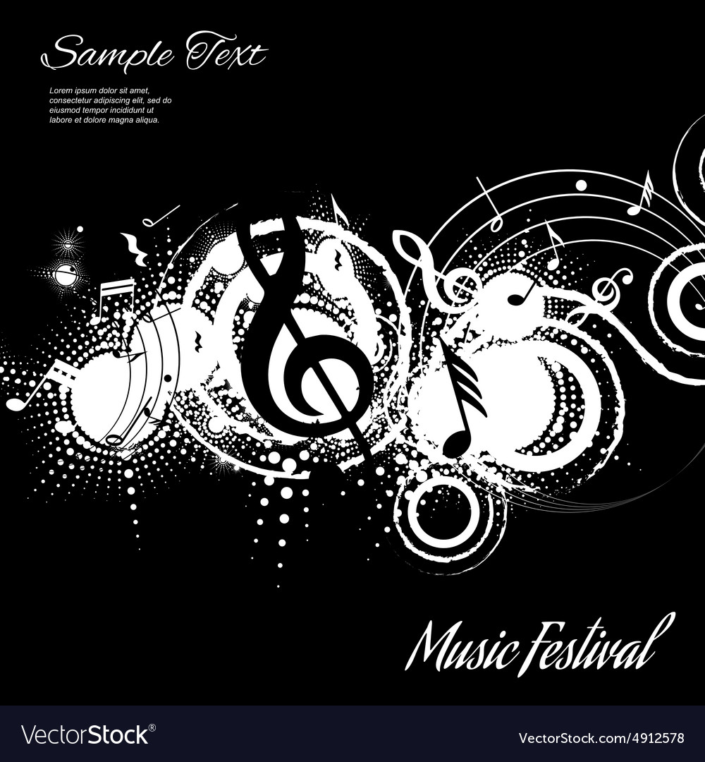 Background music abstraction vector