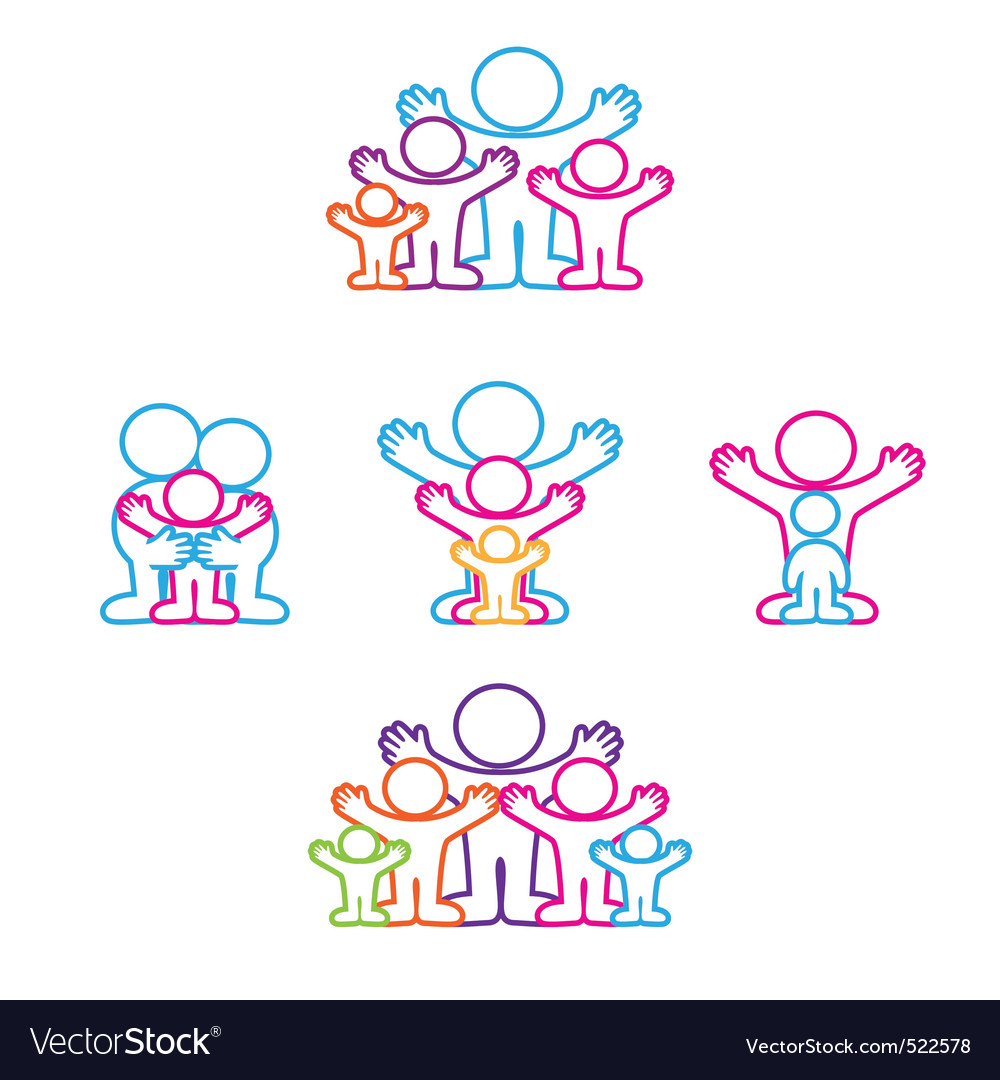 Collection icon family vector