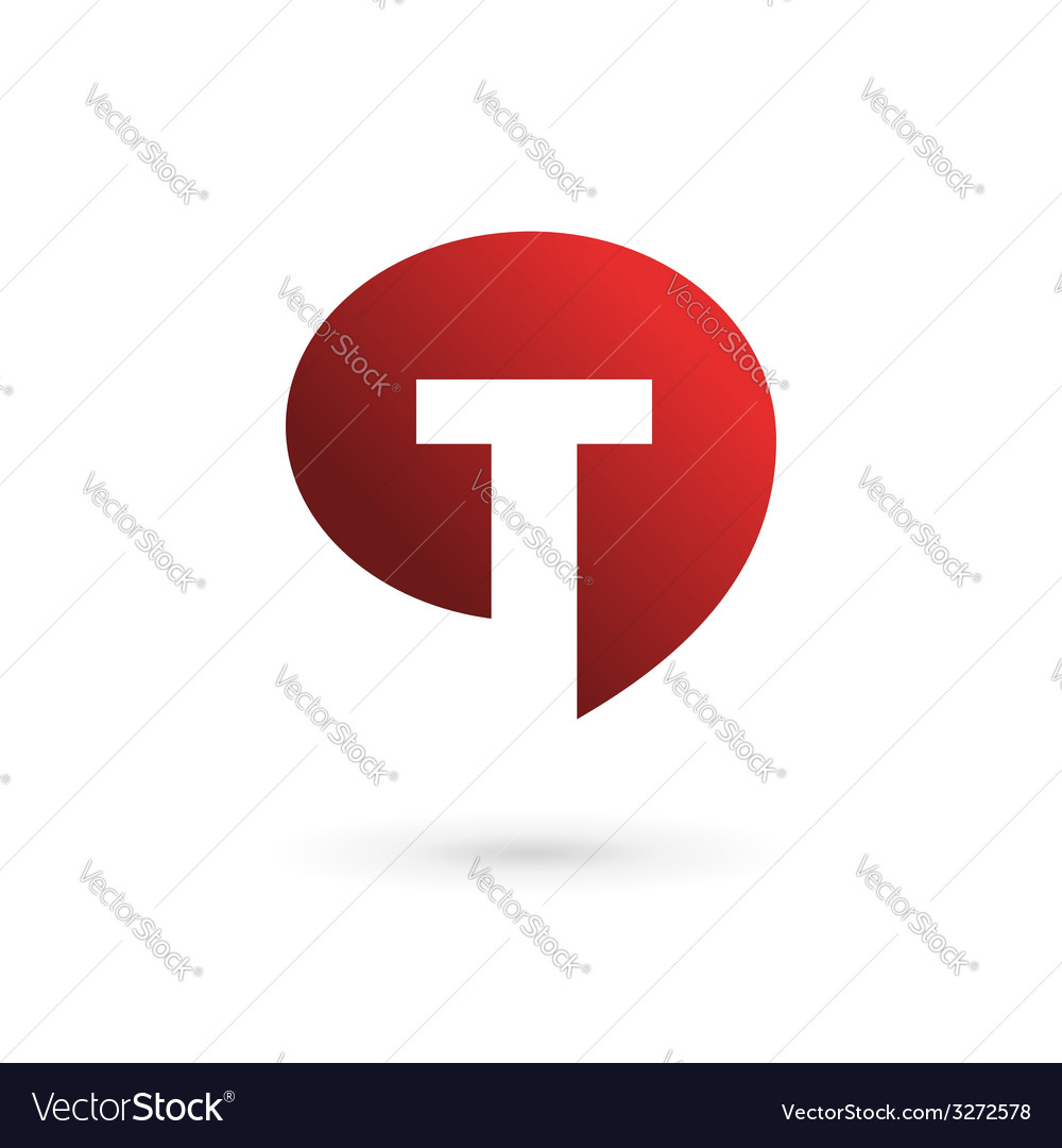 Letter t speech bubble logo icon design template vector