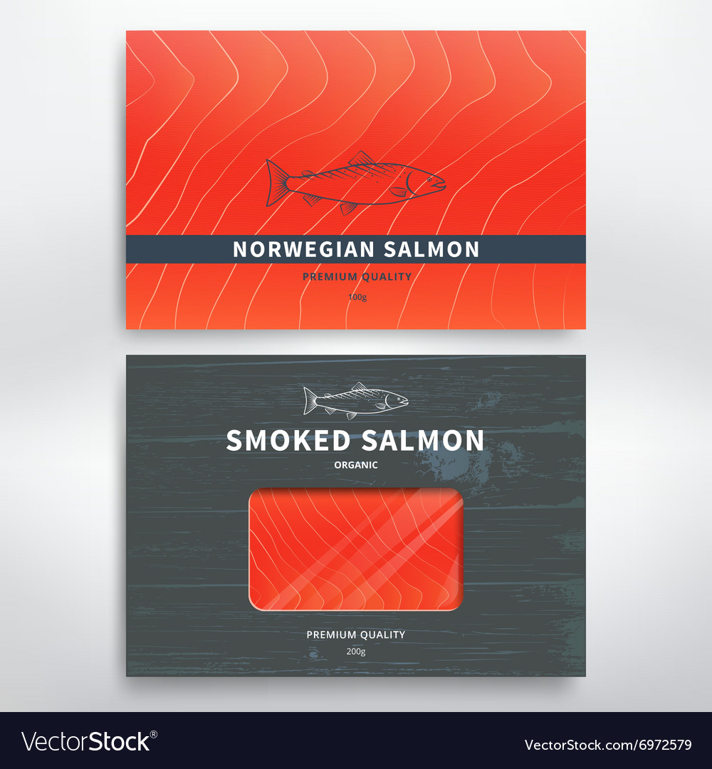 Packaging for fish vector