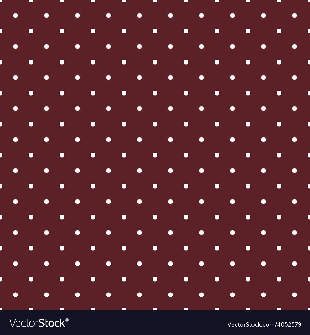 Tile pattern white polka dots on brown background vector