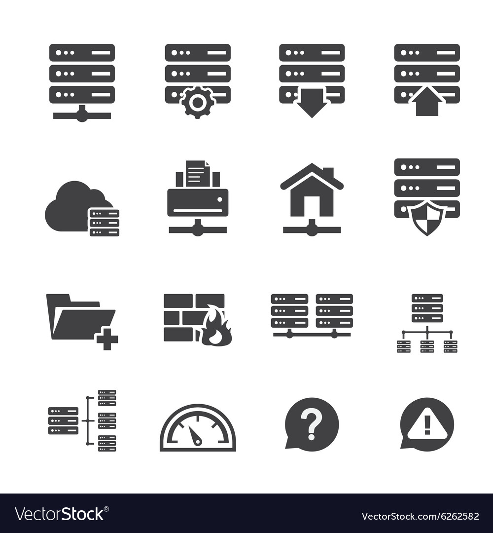 Ftp hosting icons vector