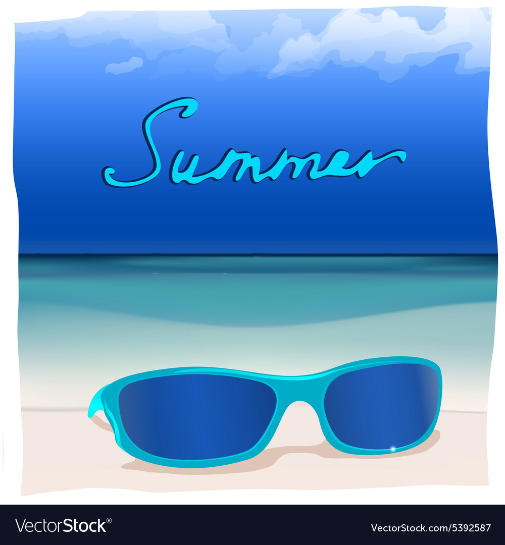 01 paradise sea sunglasses vector