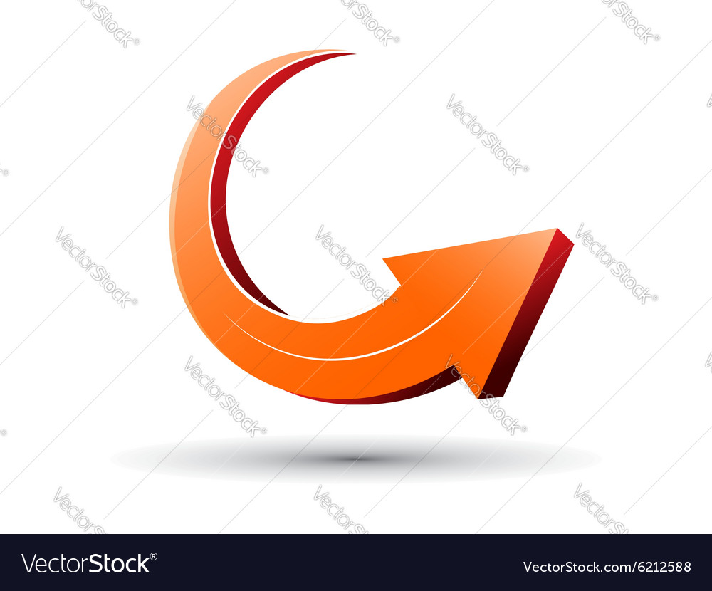 3d arrow sign vector