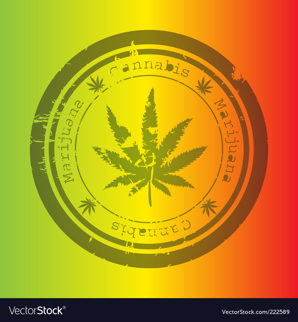 Marijuana stamp vector