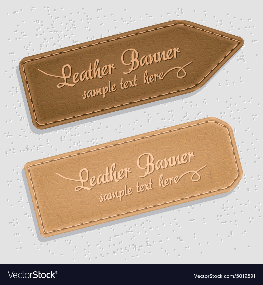 Leather banners vector