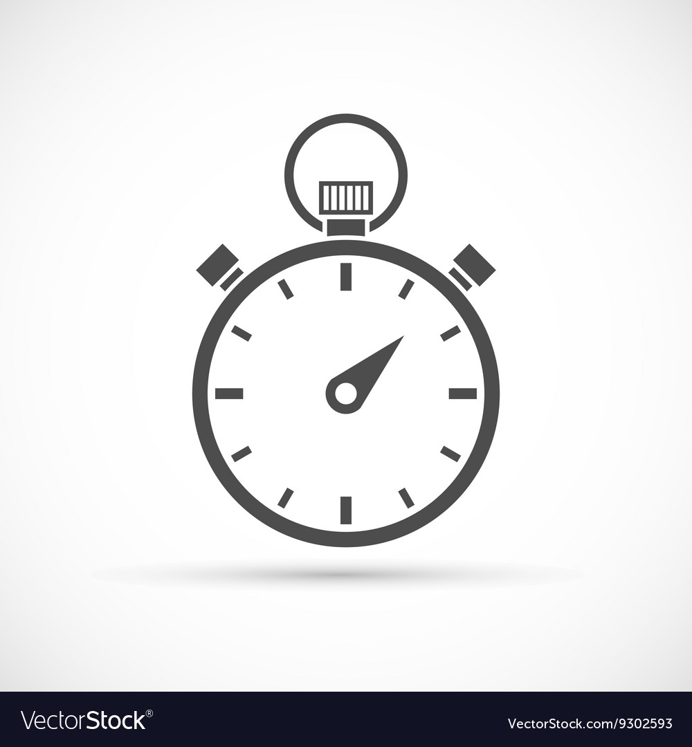 Stopwatch icon on white vector