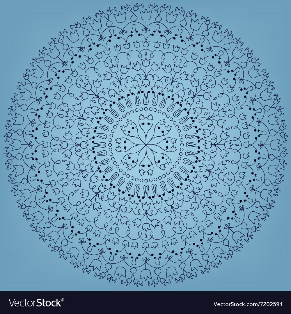 Round ornate vector