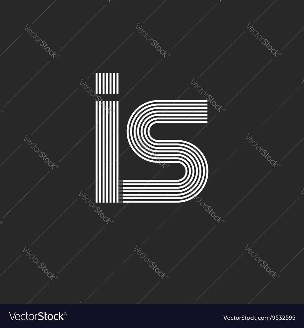 Hipster initials letters is monogram logo linked vector