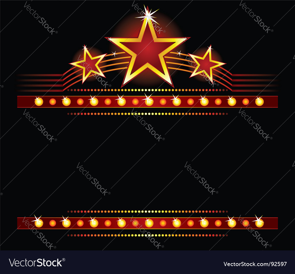 Stars over copy space vector