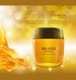 cosmetic ads postermoisturizing nourishing cream vector image vector image