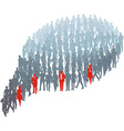 Protrude persons in group bubble vector image vector image