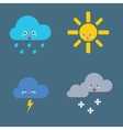 Icons set Weather vector image