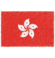 hand drawn of flag of Hong Kong vector image
