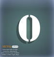 number zero icon sign On the blue-green abstract vector image