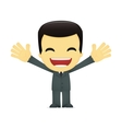 funny cartoon asian businessman vector image vector image