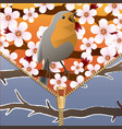Background on a theme of seasons change spring vector image