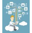 Business communication concept vector image