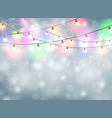 colorful lamp christmas background with snowflakes vector image