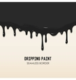 Dripping paint seamless border vector image
