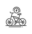 electric bike - line design single isolated icon vector image