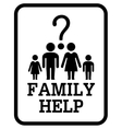 family help symbol vector image