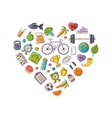 Healthy lifestyle heart vector image