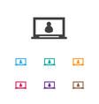 of internet symbol on computer vector image