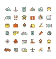 Tourism transport flat icons for web and vector image